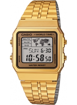 Casio A500WGA-9DF Sarı Retro Kol Saati
